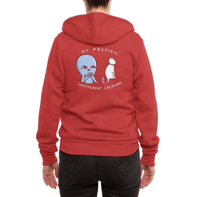 STRANGE PLANET SPECIAL PRODUCT: MY PRECIOUS INDIFFERENT CREATURE Women's Zip-Up Hoody by Nathan W Pyle