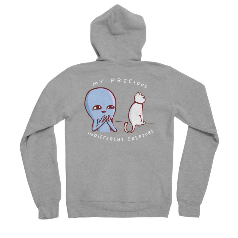STRANGE PLANET SPECIAL PRODUCT: MY PRECIOUS INDIFFERENT CREATURE Men's Sponge Fleece Zip-Up Hoody by Nathan W Pyle