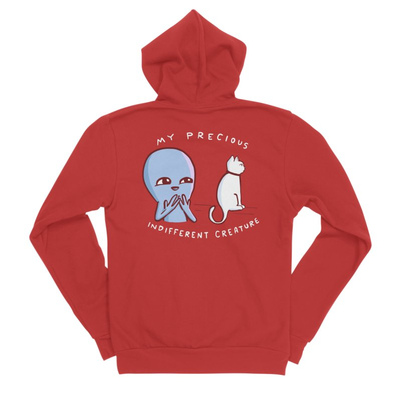 STRANGE PLANET SPECIAL PRODUCT: MY PRECIOUS INDIFFERENT CREATURE Men's Zip-Up Hoody by Nathan W Pyle