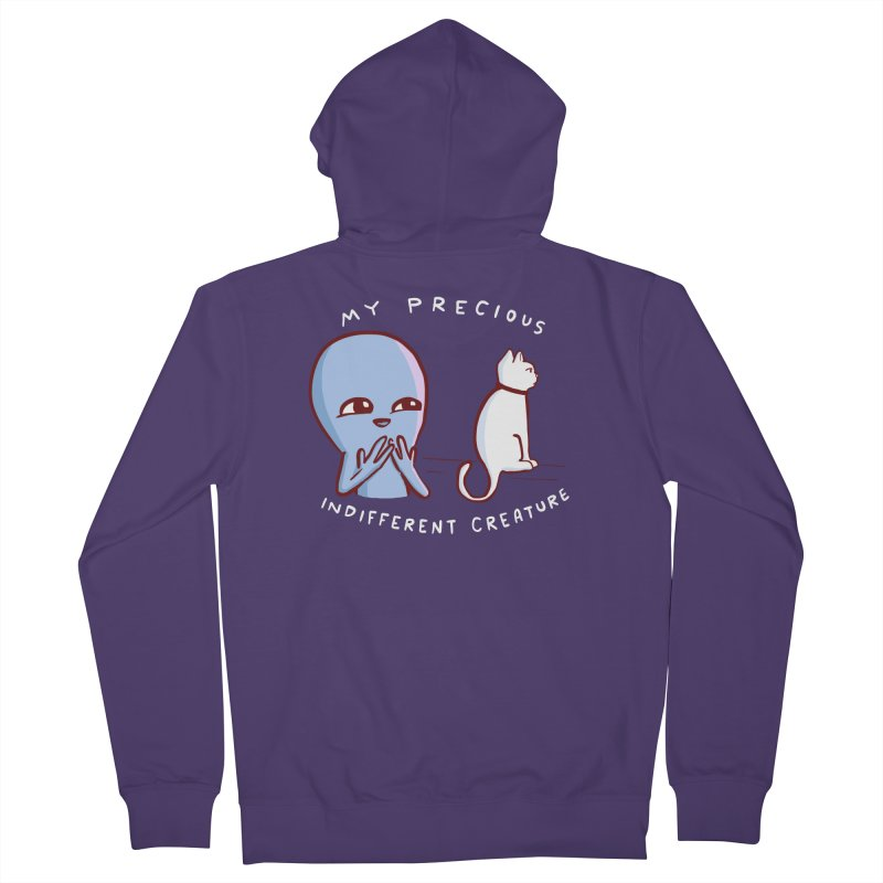 STRANGE PLANET SPECIAL PRODUCT: MY PRECIOUS INDIFFERENT CREATURE Women's French Terry Zip-Up Hoody by Nathan W Pyle