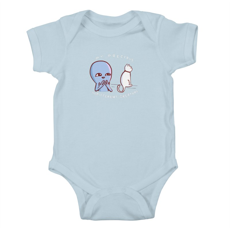 STRANGE PLANET SPECIAL PRODUCT: MY PRECIOUS INDIFFERENT CREATURE Kids Baby Bodysuit by Nathan W Pyle
