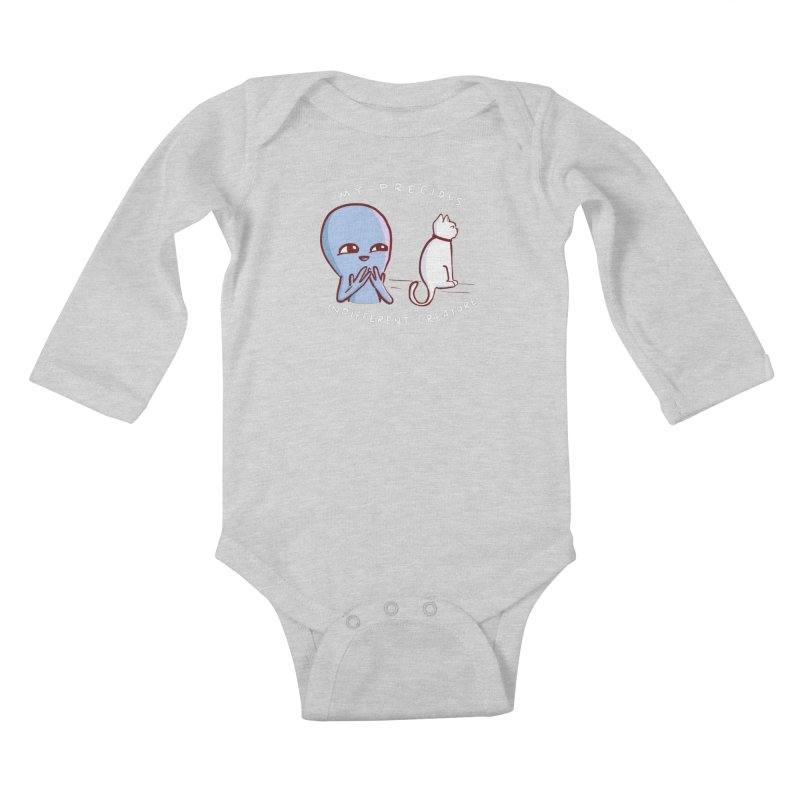 STRANGE PLANET SPECIAL PRODUCT: MY PRECIOUS INDIFFERENT CREATURE Kids Baby Longsleeve Bodysuit by Nathan W Pyle