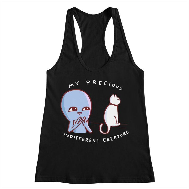 STRANGE PLANET SPECIAL PRODUCT: MY PRECIOUS INDIFFERENT CREATURE Women's Racerback Tank by Nathan W Pyle