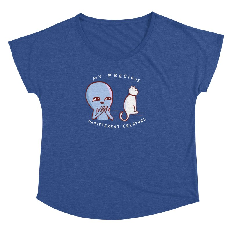 STRANGE PLANET SPECIAL PRODUCT: MY PRECIOUS INDIFFERENT CREATURE Women's Dolman Scoop Neck by Nathan W Pyle