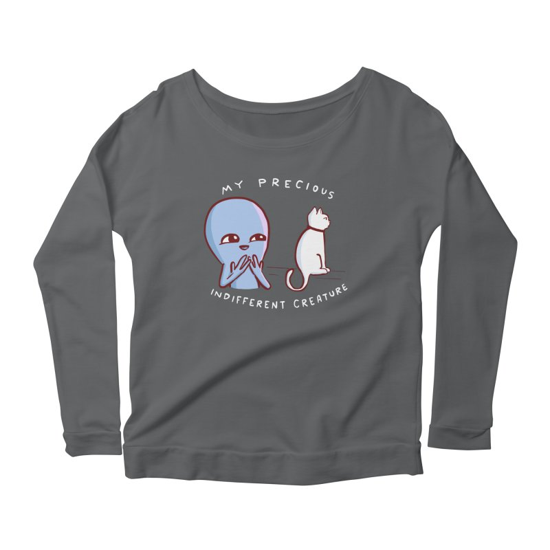 STRANGE PLANET SPECIAL PRODUCT: MY PRECIOUS INDIFFERENT CREATURE Women's Scoop Neck Longsleeve T-Shirt by Nathan W Pyle