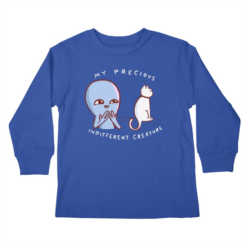 STRANGE PLANET SPECIAL PRODUCT: MY PRECIOUS INDIFFERENT CREATURE Kids Longsleeve T-Shirt by Nathan W Pyle Shop | Strange Planet Store | Thread