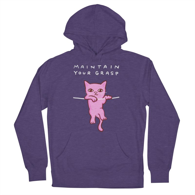 STRANGE PLANET SPECIAL PRODUCT: MAINTAIN YOUR GRASP Women's French Terry Pullover Hoody by Nathan W Pyle
