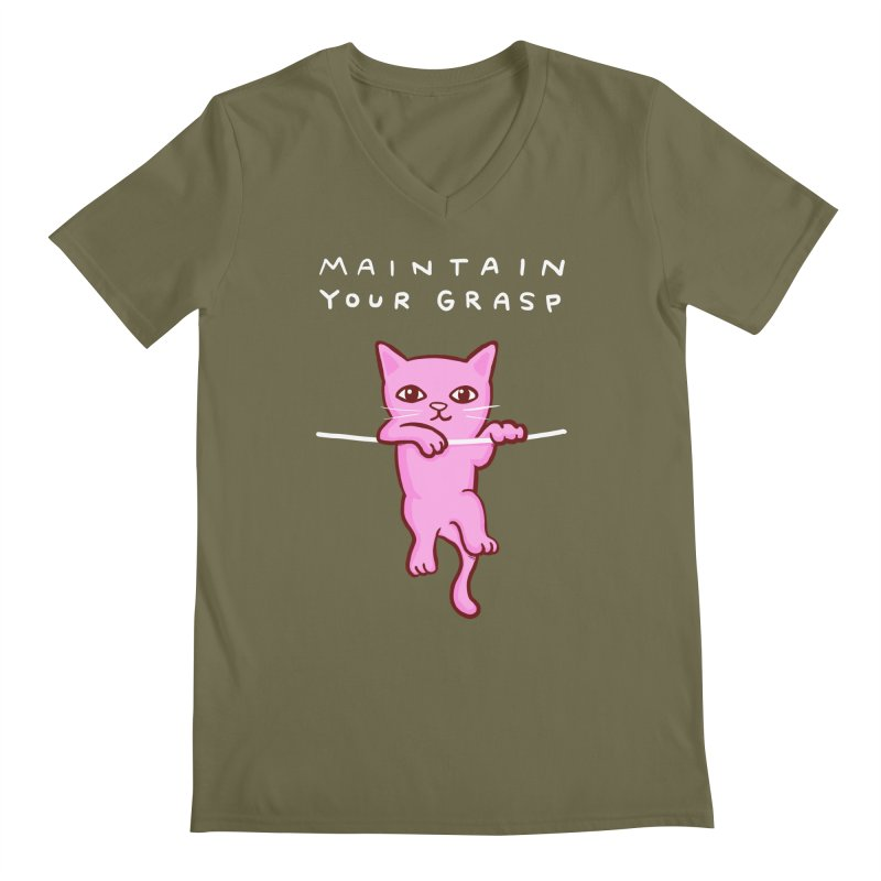 STRANGE PLANET SPECIAL PRODUCT: MAINTAIN YOUR GRASP Men's Regular V-Neck by Nathan W Pyle
