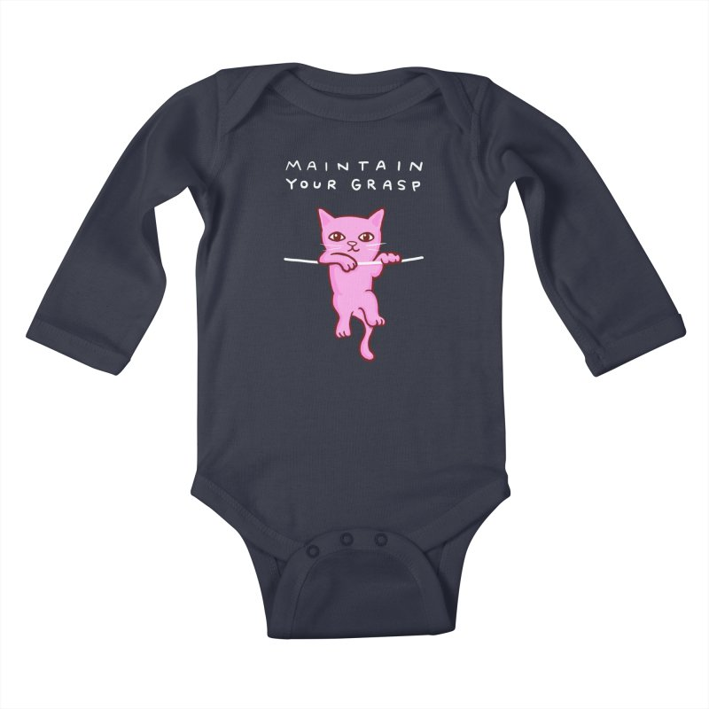 STRANGE PLANET SPECIAL PRODUCT: MAINTAIN YOUR GRASP Kids Baby Longsleeve Bodysuit by Nathan W Pyle