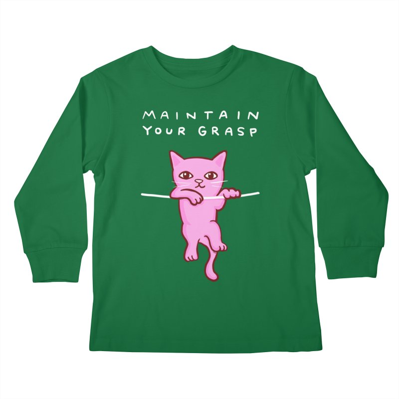 STRANGE PLANET SPECIAL PRODUCT: MAINTAIN YOUR GRASP Kids Longsleeve T-Shirt by Nathan W Pyle