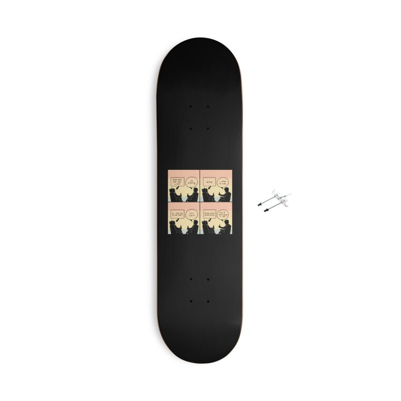 HUMAN Accessories Skateboard by Nathan W Pyle Shop   Strange Planet Store   Thread