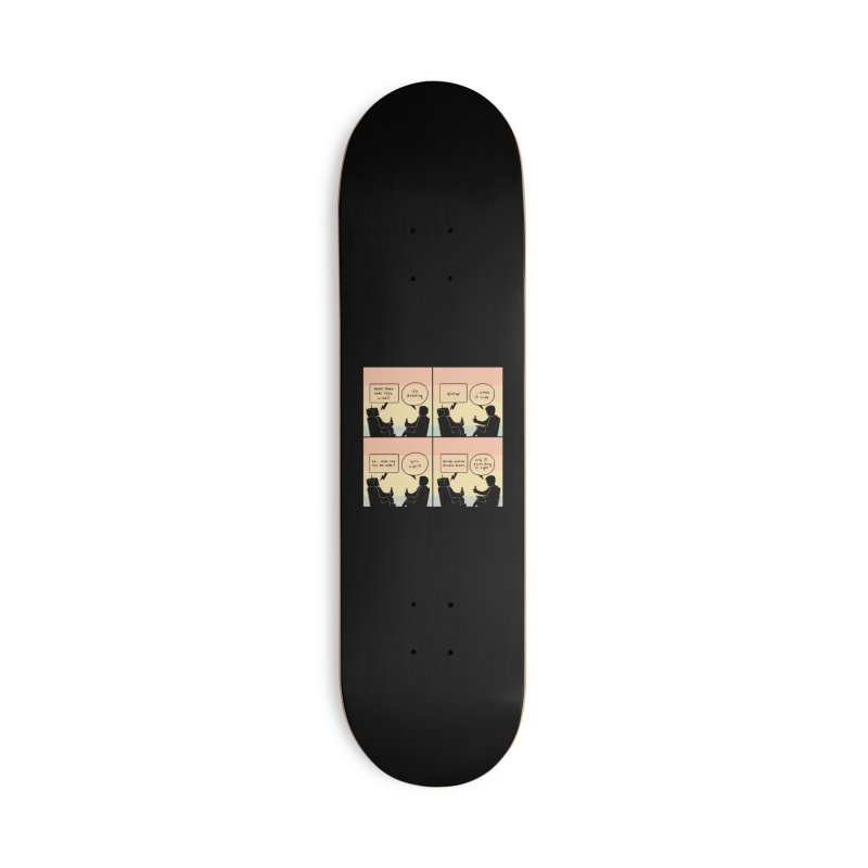 HUMAN Accessories Deck Only Skateboard by Nathan W Pyle