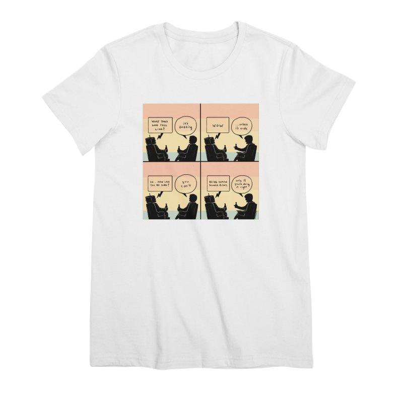 HUMAN Women's Premium T-Shirt by Nathan W Pyle