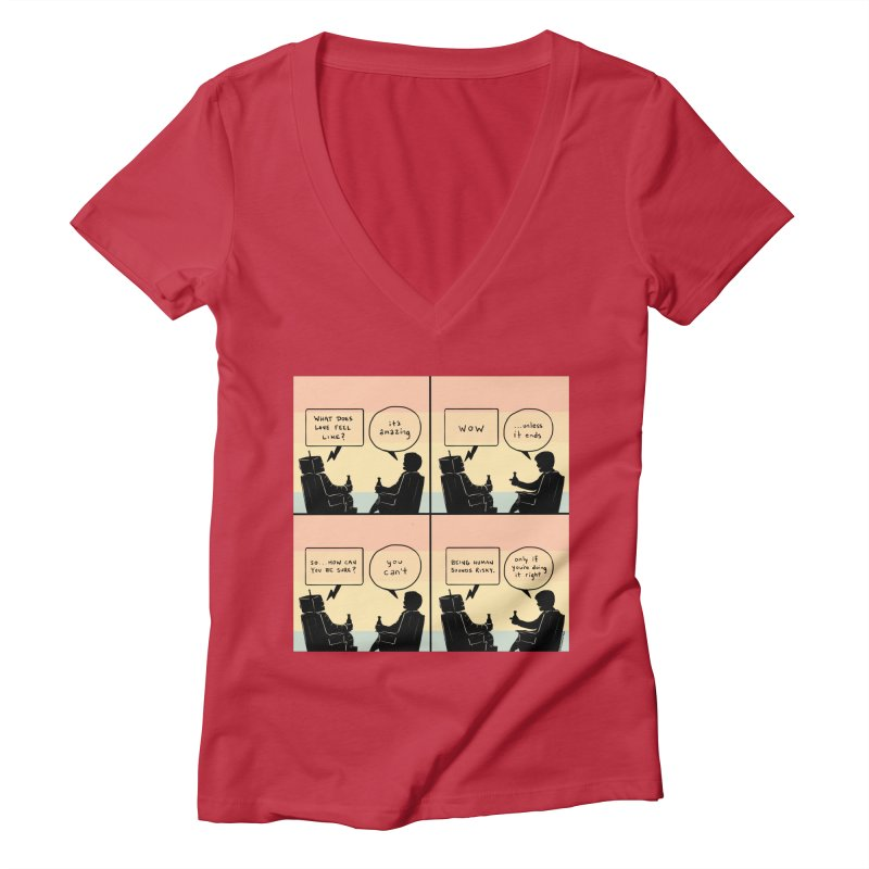 HUMAN Women's Deep V-Neck V-Neck by Nathan W Pyle
