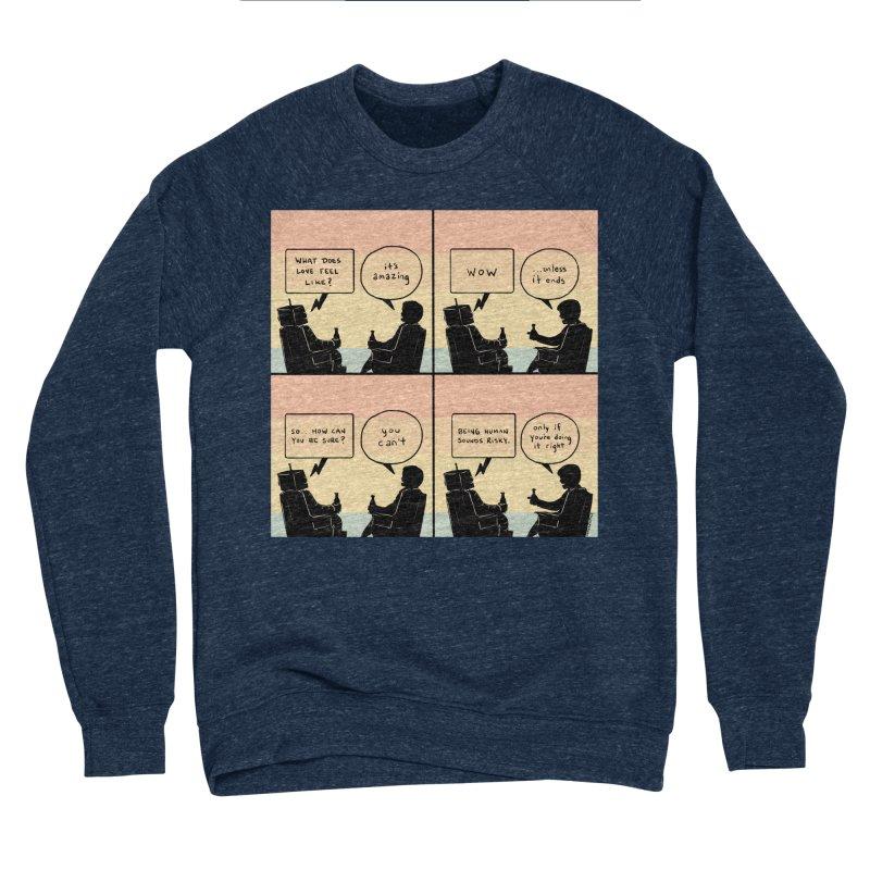 HUMAN Women's Sponge Fleece Sweatshirt by Nathan W Pyle