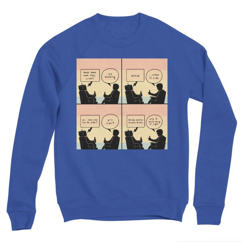 HUMAN Men's Sponge Fleece Sweatshirt by Nathan W Pyle