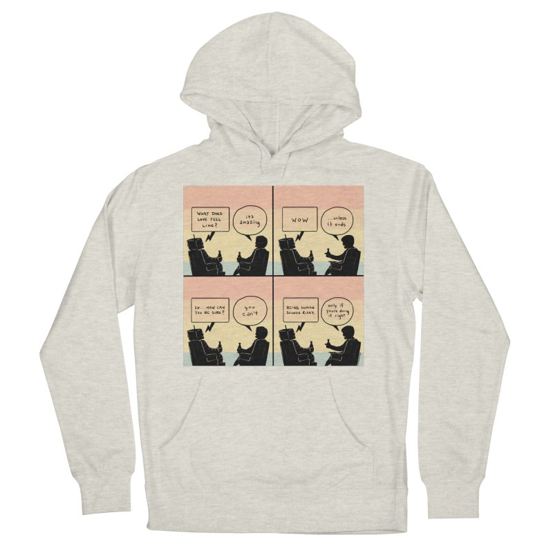 HUMAN Women's French Terry Pullover Hoody by Nathan W Pyle