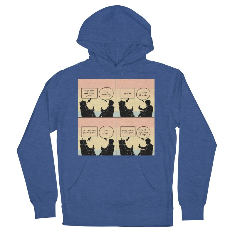 HUMAN Men's French Terry Pullover Hoody by Nathan W Pyle