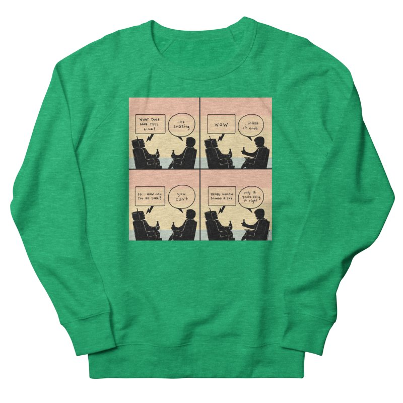 HUMAN Men's French Terry Sweatshirt by Nathan W Pyle