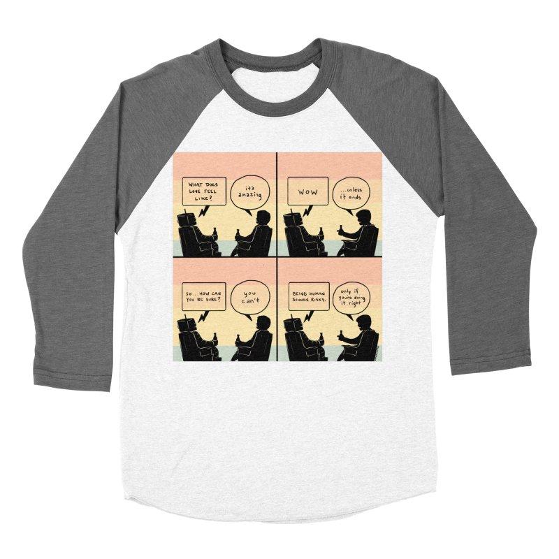 HUMAN Women's Baseball Triblend Longsleeve T-Shirt by Nathan W Pyle