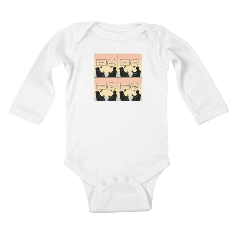 HUMAN Kids Baby Longsleeve Bodysuit by Nathan W Pyle Shop | Strange Planet Store | Thread