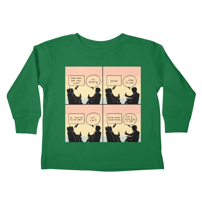 HUMAN Kids Toddler Longsleeve T-Shirt by Nathan W Pyle