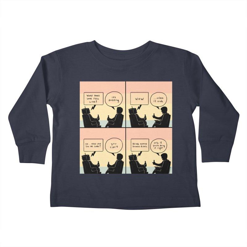 HUMAN Kids Toddler Longsleeve T-Shirt by Nathan W Pyle