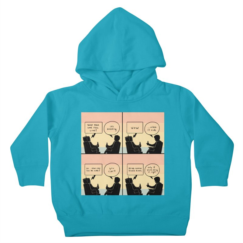 HUMAN Kids Toddler Pullover Hoody by Nathan W Pyle