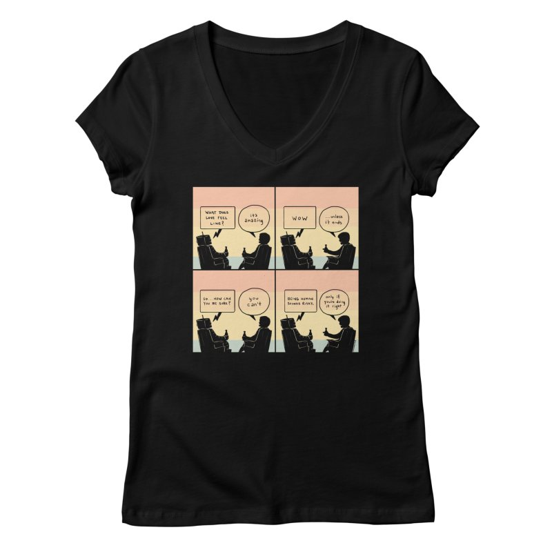 HUMAN Women's V-Neck by Nathan W Pyle