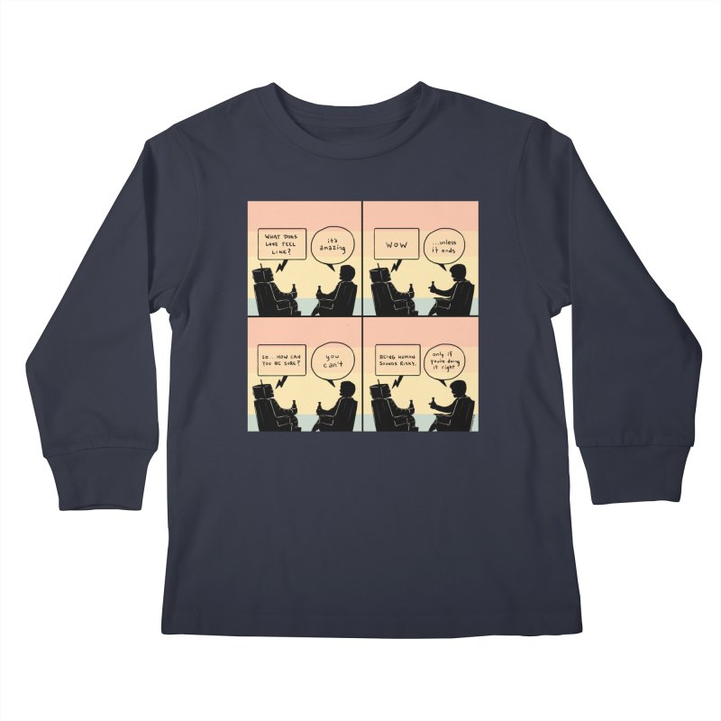 HUMAN Kids Longsleeve T-Shirt by Nathan W Pyle