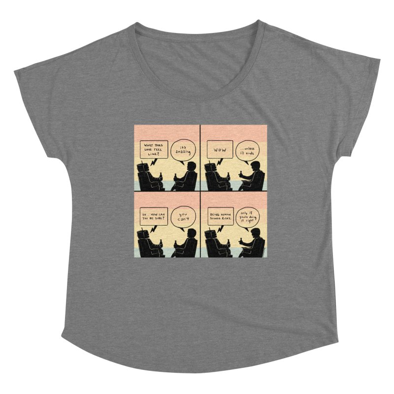 HUMAN Women's Scoop Neck by Nathan W Pyle