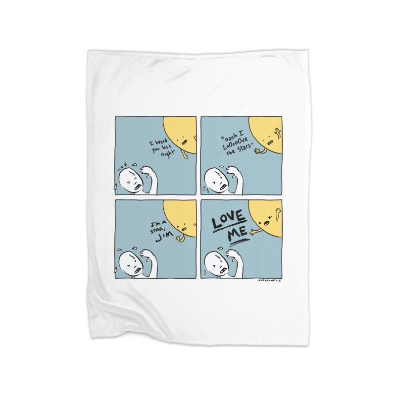LOVE ME Home Fleece Blanket Blanket by Nathan W Pyle