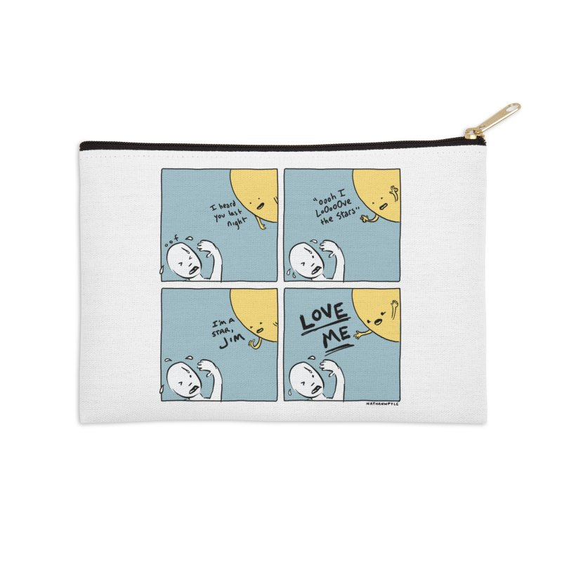 LOVE ME Accessories Zip Pouch by Nathan W Pyle
