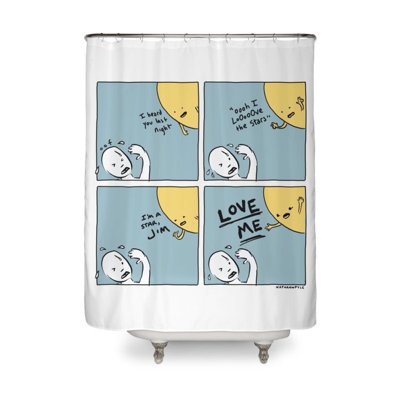 LOVE ME Home Shower Curtain by Nathan W Pyle
