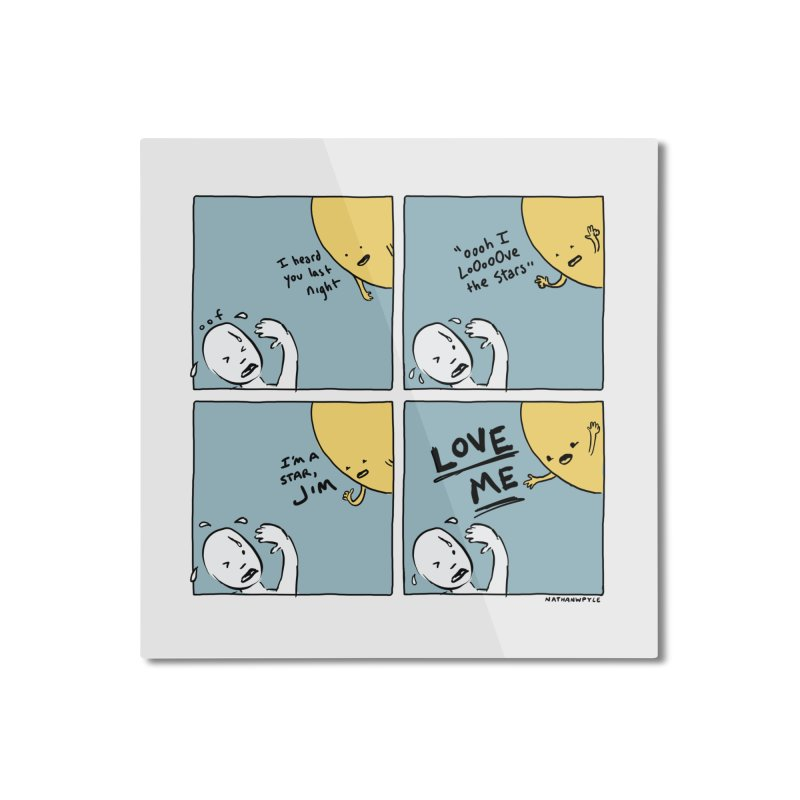 LOVE ME Home Mounted Aluminum Print by Nathan W Pyle