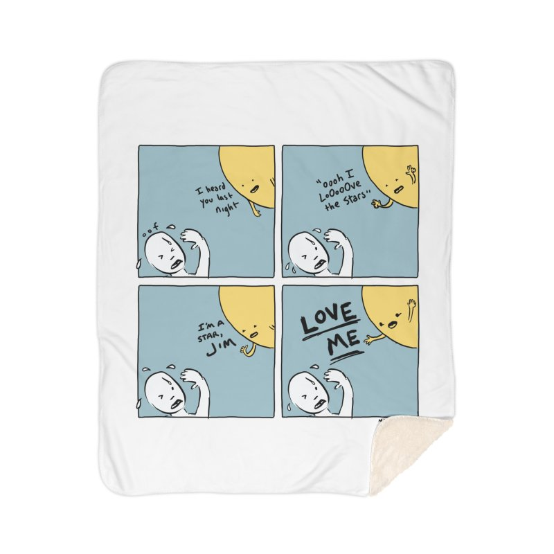 LOVE ME Home Sherpa Blanket Blanket by Nathan W Pyle