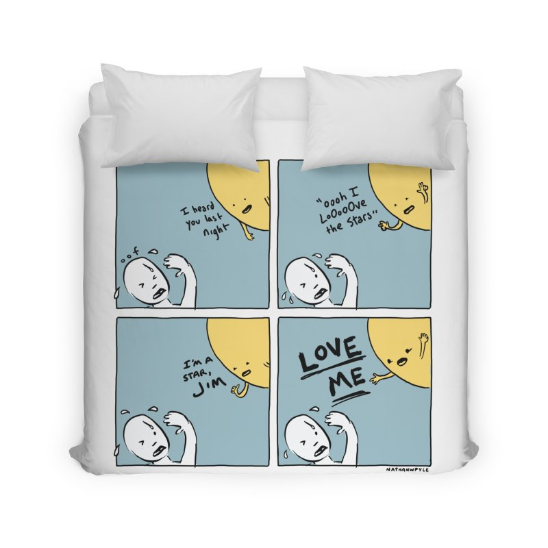 LOVE ME Home Duvet by Nathan W Pyle