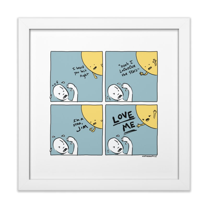 LOVE ME Home Framed Fine Art Print by Nathan W Pyle