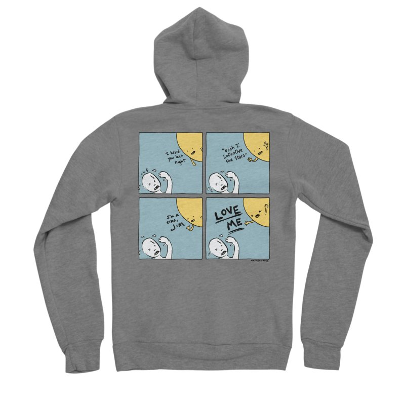 LOVE ME Men's Zip-Up Hoody by Nathan W Pyle