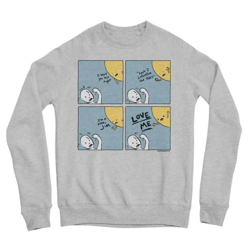 LOVE ME Men's Sponge Fleece Sweatshirt by Nathan W Pyle