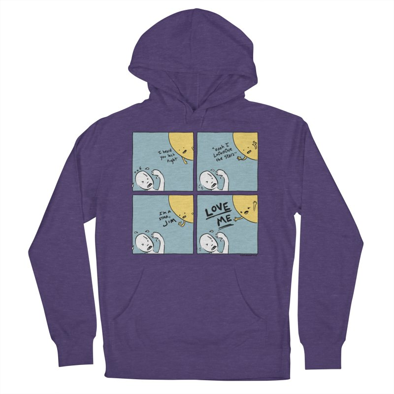 LOVE ME Men's French Terry Pullover Hoody by Nathan W Pyle