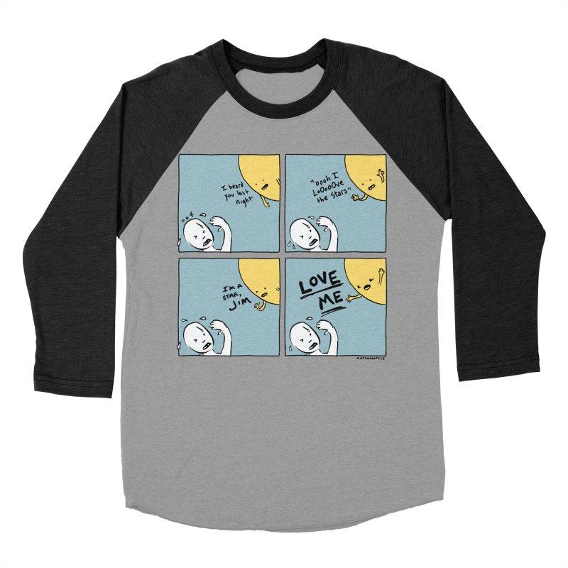 LOVE ME Women's Baseball Triblend Longsleeve T-Shirt by Nathan W Pyle