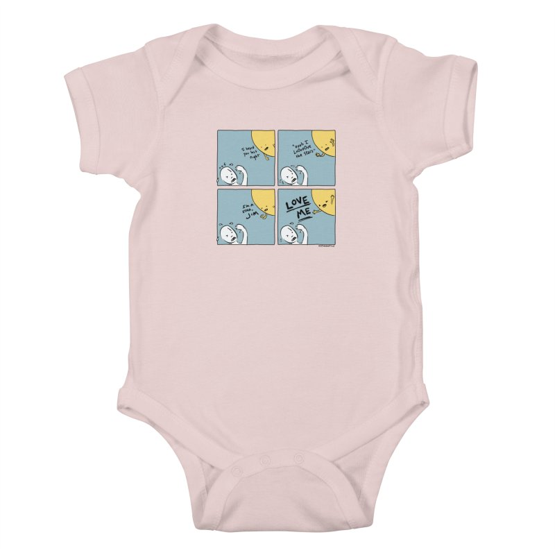 LOVE ME Kids Baby Bodysuit by Nathan W Pyle