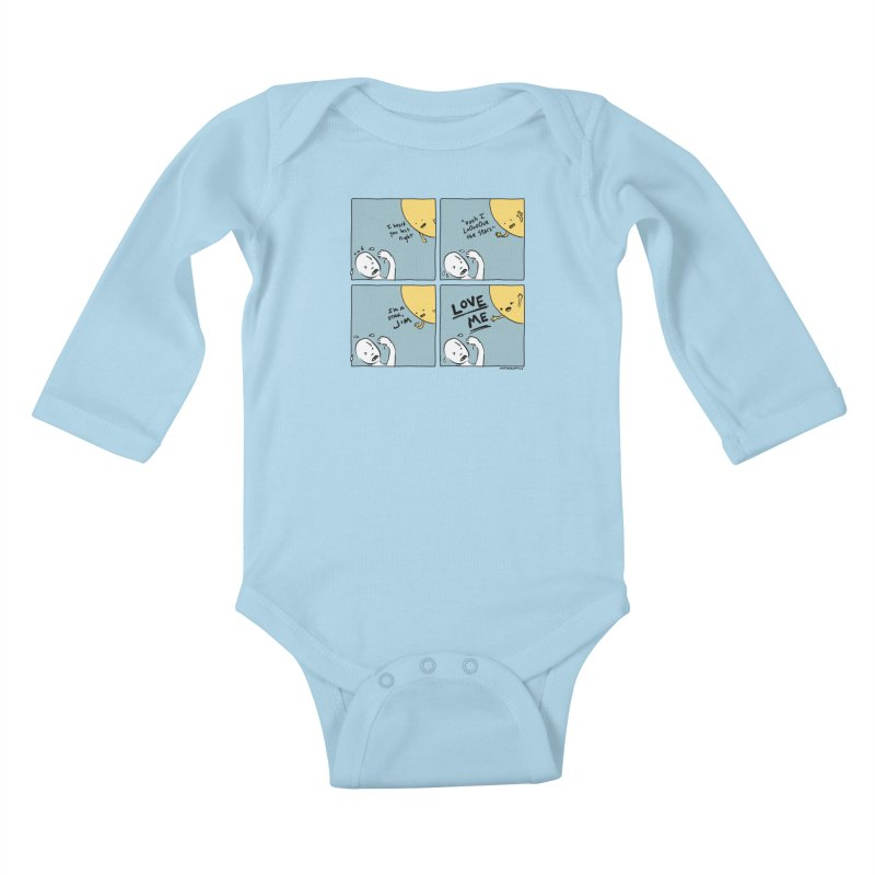 LOVE ME Kids Baby Longsleeve Bodysuit by Nathan W Pyle