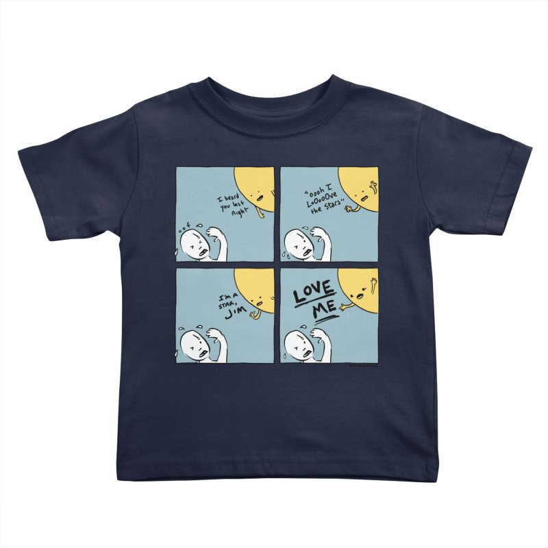 LOVE ME Kids Toddler T-Shirt by Nathan W Pyle
