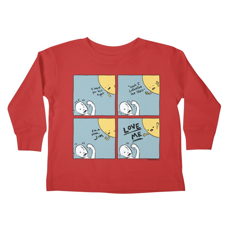 LOVE ME Kids Toddler Longsleeve T-Shirt by Nathan W Pyle