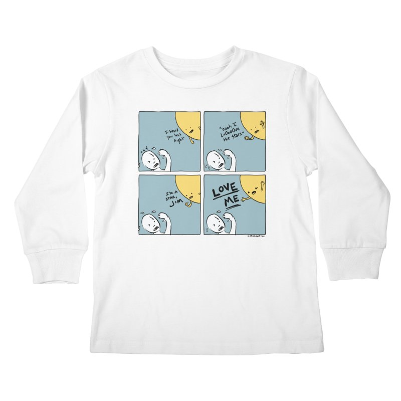 LOVE ME Kids Longsleeve T-Shirt by Nathan W Pyle