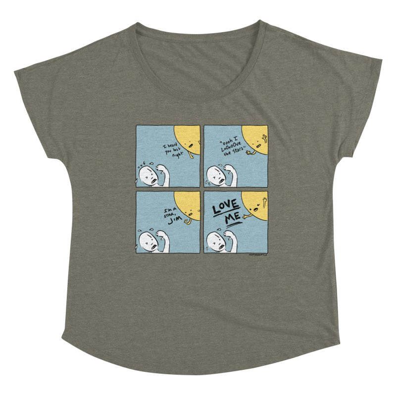 LOVE ME Women's Scoop Neck by Nathan W Pyle