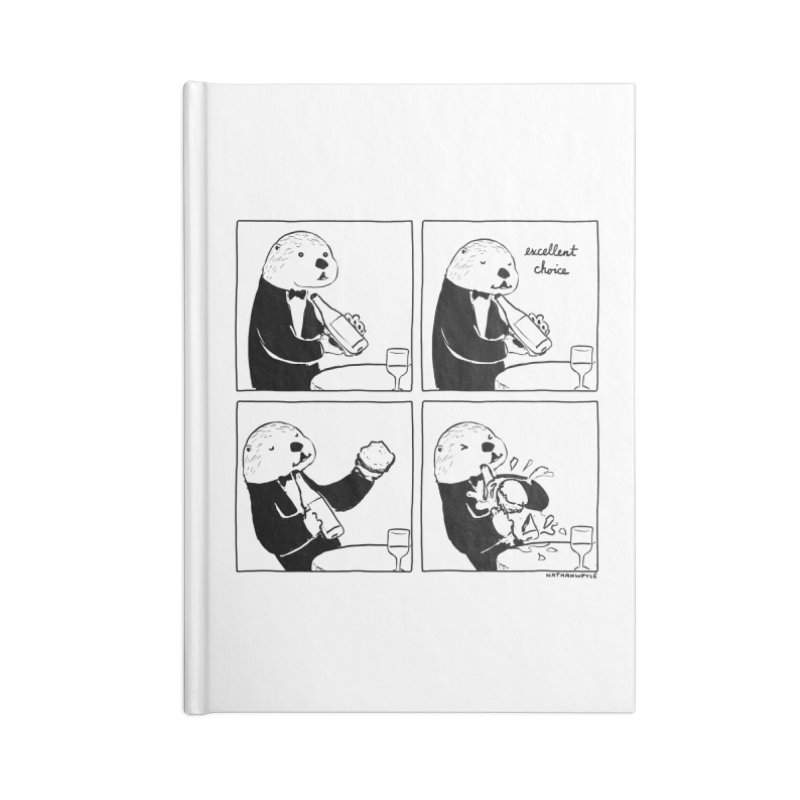 EXCELLENT CHOICE / OTTER Accessories Notebook by Nathan W Pyle