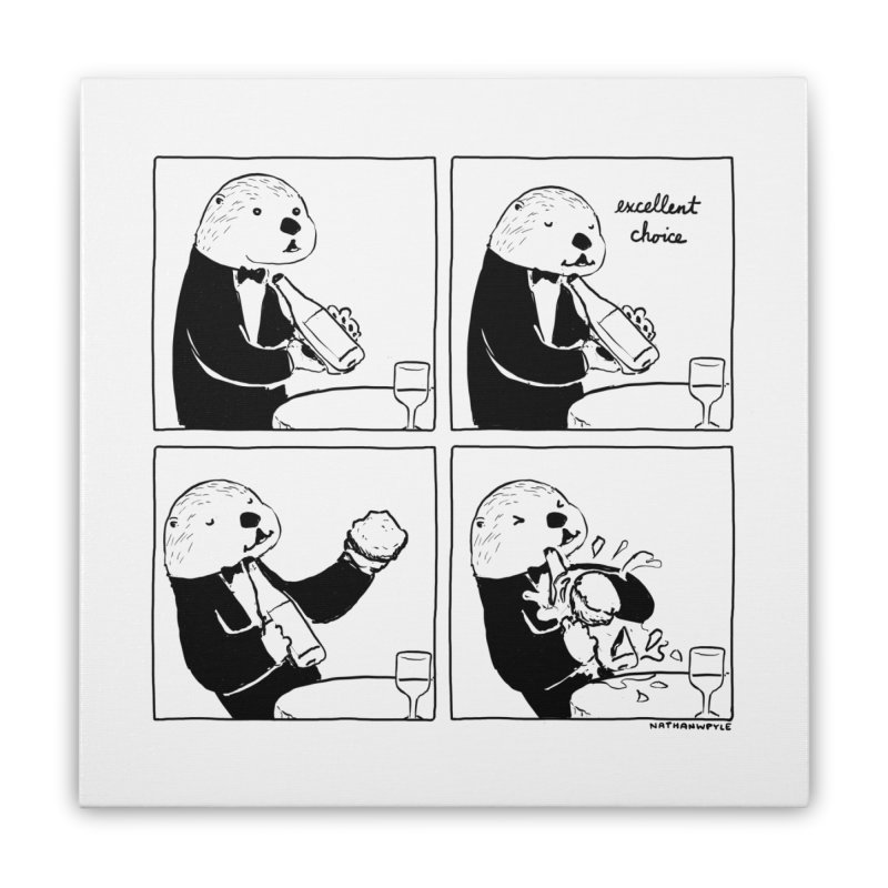 EXCELLENT CHOICE / OTTER Home Stretched Canvas by Nathan W Pyle